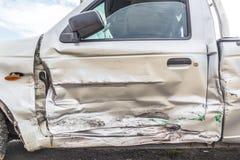 Door of crash car Royalty Free Stock Photo
