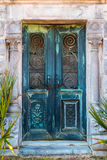 Door of crypt Stock Images