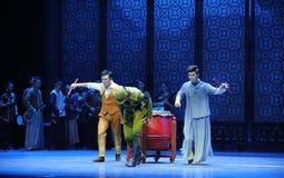 Door de binnenvallende Japanse Legerspanning de musicus-derde handeling van de gebeurtenissen van dans drama-Shawan van het verle Stock Afbeelding