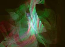 Door de computer geproduceerd fractal beeld met abstractie Stock Afbeelding