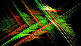 Door de computer geproduceerd fractal beeld met een geometrische abstractie royalty-vrije stock afbeelding