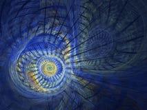 Door de computer geproduceerd fractal beeld met wervelingen Stock Afbeelding