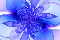 Door de computer geproduceerde fractal met bloem Stock Afbeelding