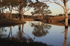 Door de dam stock afbeelding