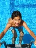 Door de pool Stock Foto