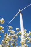 Door de wind aangedreven generator stock afbeeldingen