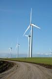 Door de wind aangedreven generators Stock Foto
