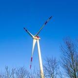 Door de wind aangedreven krachtcentrale Royalty-vrije Stock Afbeelding