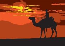 Door de woestijn royalty-vrije illustratie