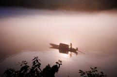 Door de zon in het water Stock Foto's
