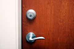 A door with deadlock Royalty Free Stock Photography