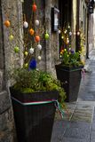Door decorated for easter in rothenburg ob der tauber Royalty Free Stock Photography