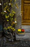 Door decorated for easter in rothenburg ob der tauber Royalty Free Stock Photo