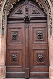 Door decorated with lions Royalty Free Stock Photo