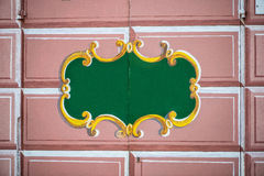 Door decorated Royalty Free Stock Image