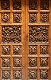 Door. A decorated wooden door in one of the narrow streets of Seville, Spain Royalty Free Stock Photo