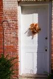Door Decoration 2. Decoration on door in historic building in Bishop Hill, Illinois Stock Photo