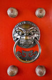 Door decoration at Buddhist temple Stock Photography
