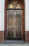 Door decoration in forged iron Old town Stock Photo