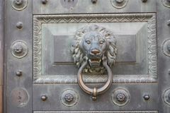 door decoration in the form of a animal head royalty free stock photography