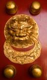 Door decoration in gold Stock Images