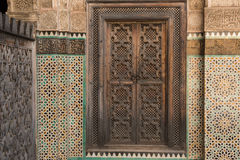 Door and decoration Stock Image