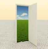 Door in the desert Stock Photography