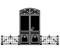 Door design Royalty Free Stock Photo