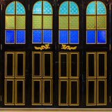 The door design bold color. Royalty Free Stock Photography