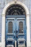 Door detail in Alfama district in Lisbon Royalty Free Stock Image
