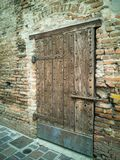 Door Detail of the ancient Tower in Goito, Mantua stock image