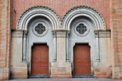 Door detail of Catholic church in Saigon, VietNam Stock Photos