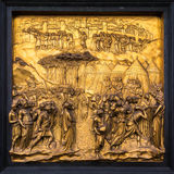 Door detail of Florence Baptistery -  Gates of Paradise Stock Images