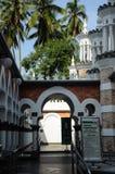 Door detail at Kuala Lumpur Jamek Mosque in Malaysia Royalty Free Stock Photography