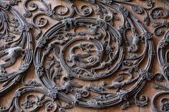 Door detail of Notre Dame de Paris Royalty Free Stock Image