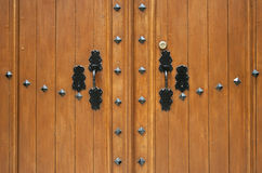 Door detail, raw Stock Images