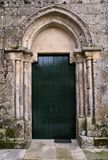 Door detail of Romanesque church Stock Photo