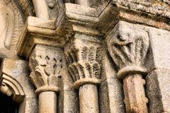 Door detail of Romanesque church Royalty Free Stock Image