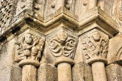Door detail of Romanesque church Royalty Free Stock Photo