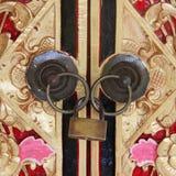 Door detail. square image Royalty Free Stock Image