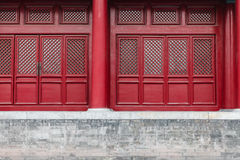 Door details of Imperial palace in Beijing Stock Images