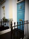 Door doorway England Britain British home house. Facade front entrance estate London uk Stock Images