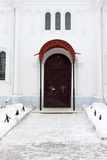 The door of Dormition Cathedral Stock Image