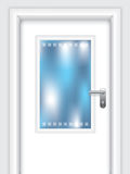 Door with dotted window Stock Photography