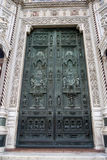 Door Duomo. In Florence, Italy royalty free stock photo