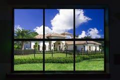 Door een venster Royalty-vrije Stock Afbeelding