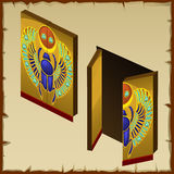 Door in the Egyptian style with scarab image Royalty Free Stock Photos