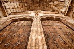 Door of El Salvador Church in Simancas Stock Photos