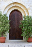 The door of Emmaus Nicopolis abbey. Israel Royalty Free Stock Photography