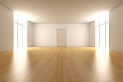 Door in a empty room Royalty Free Stock Photos
